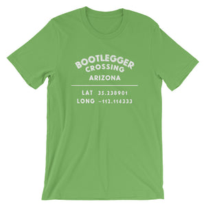 """Bootlegger Crossing, Arizona""- Unisex Short-Sleeve T-Shirt"