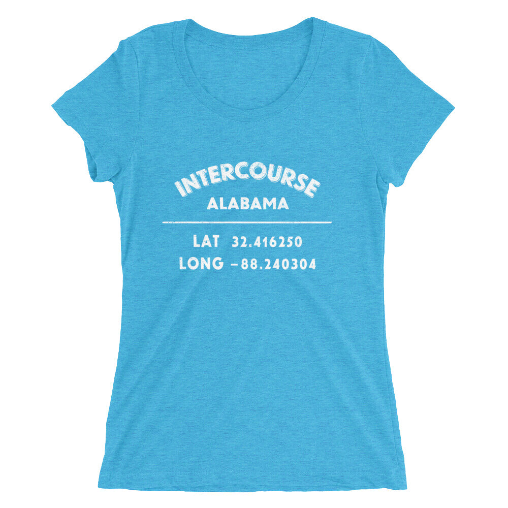 """Intercourse, Alabama""- Ladies' short sleeve t-shirt"