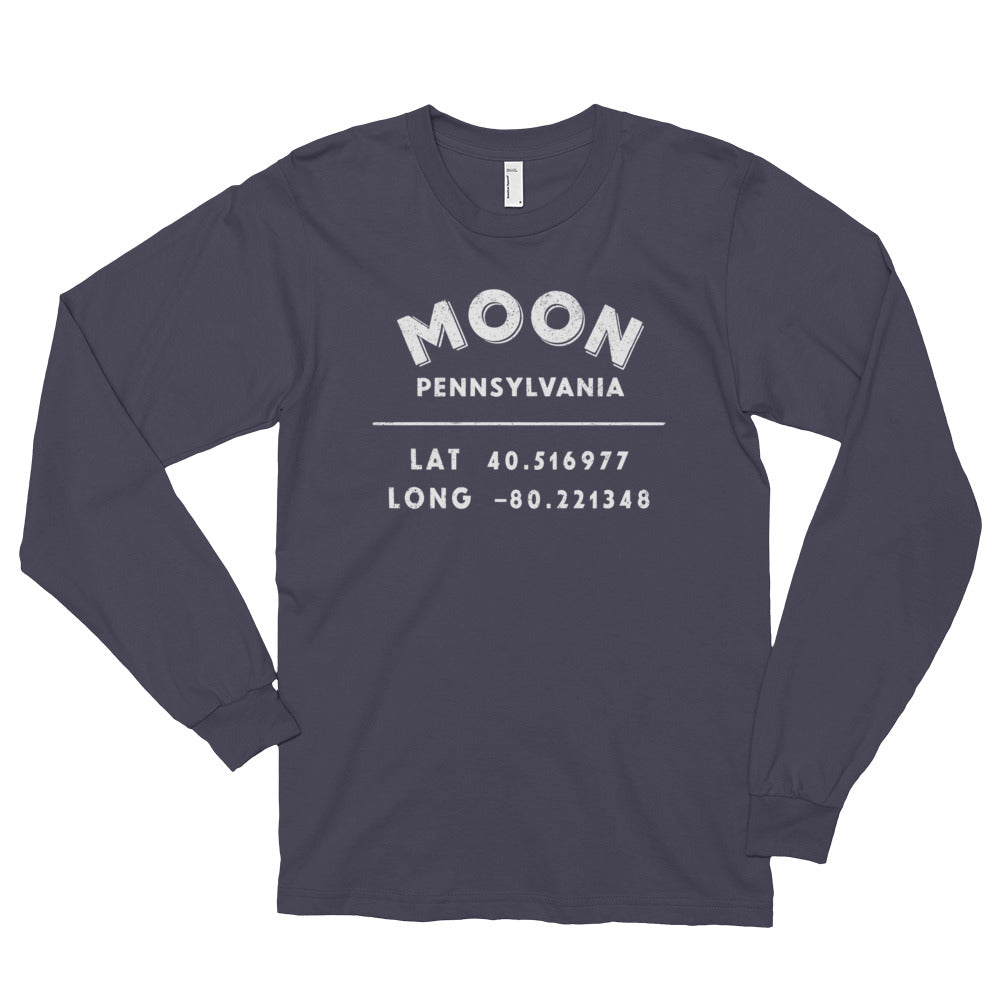 Moon, Pennsylvania Long sleeve t-shirt (unisex)