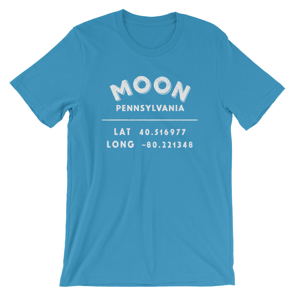 """Moon, Pennsylvania""-Unisex Short-Sleeve T-Shirt"