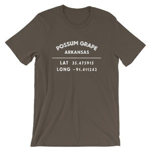 """Possum Grape, Arkansas""- Unisex Short-Sleeve T-Shirt"
