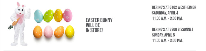 CANCELLED: Easter Bunny at Bering's 4/4 - 4/5