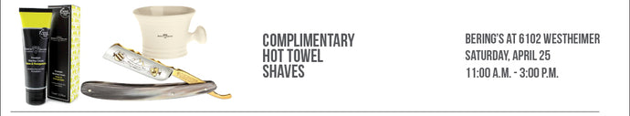 CANCELLED: Edwin Jagger Hot Towel Shave Event 4/25 at Westheimer