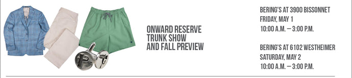 CANCELLED: Onward Reserve Trunk Show
