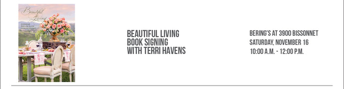 CAL-a-VIE's Beautiful Living Cookbook Siging with Terri Havens 11/16