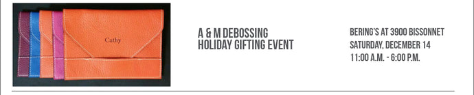 A & M Debossing Holiday Gifting Event 12/14