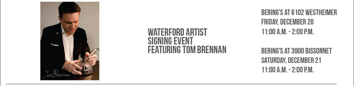 Waterford Master Craft Artist Signing Event with Tom Brennan 12/20 & 12/21