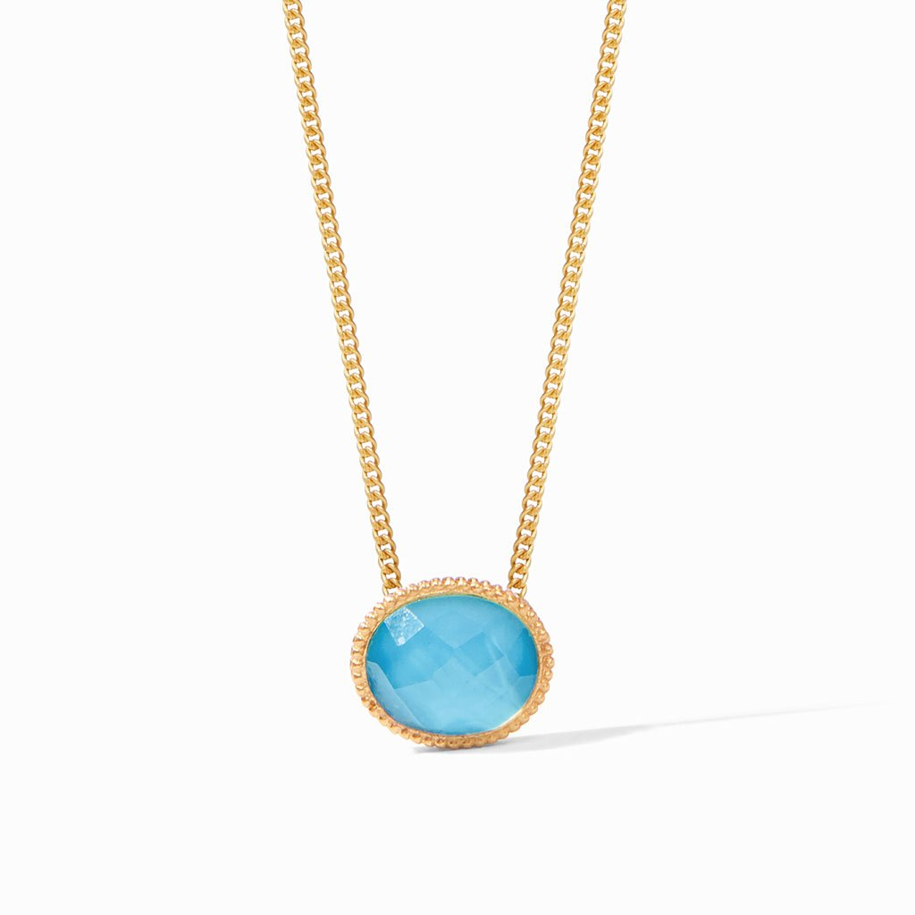 Julie Voss Verona Solitaire Necklace Pacific Blue