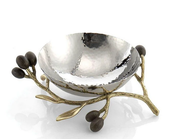 Michael Aram Olive Branch Gold Dish