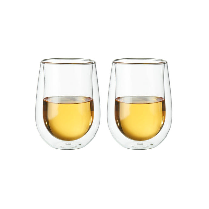 Zwilling Sorrento Double-Wall Stemless White Wine Glass Set