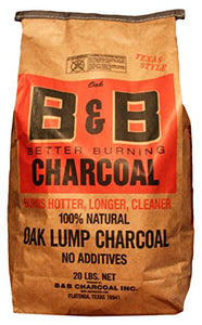 B&B 20-Lb. Oak Lump Charcoal