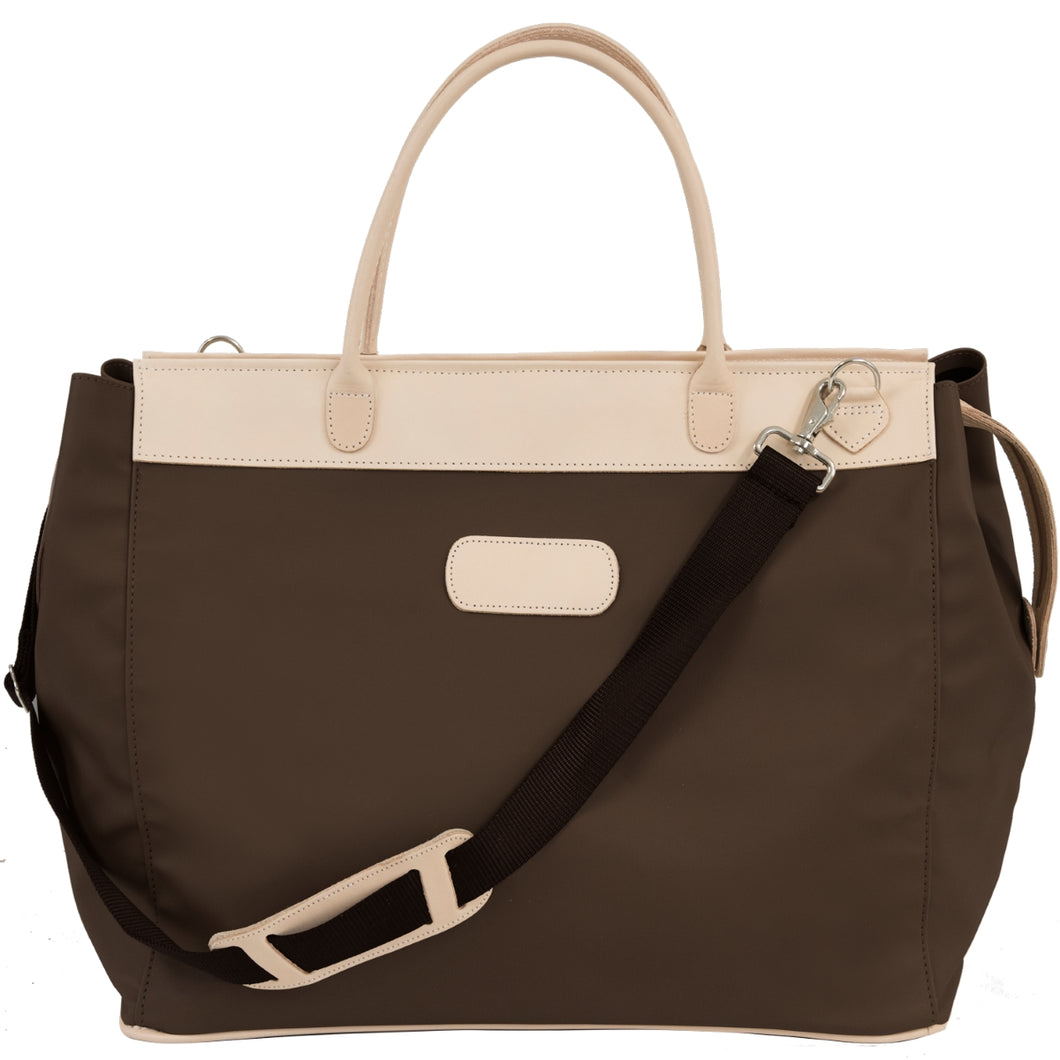Jon Hart Burleson Bag with Monogram - Espresso