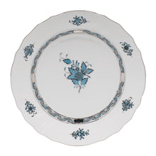 Load image into Gallery viewer, Herend Chinese Bouquet Turquoise & Platinum Dinner Plate