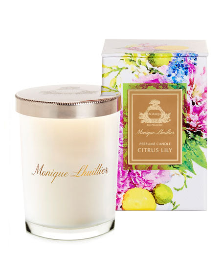 Agraria Monique Lhuillier Citrus Lily Crystal Candle, 7 oz.