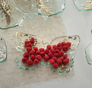 Annieglass Butterfly Tray - Annie Glass