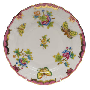 Herend Queen Victoria Pink Border Bread Plate