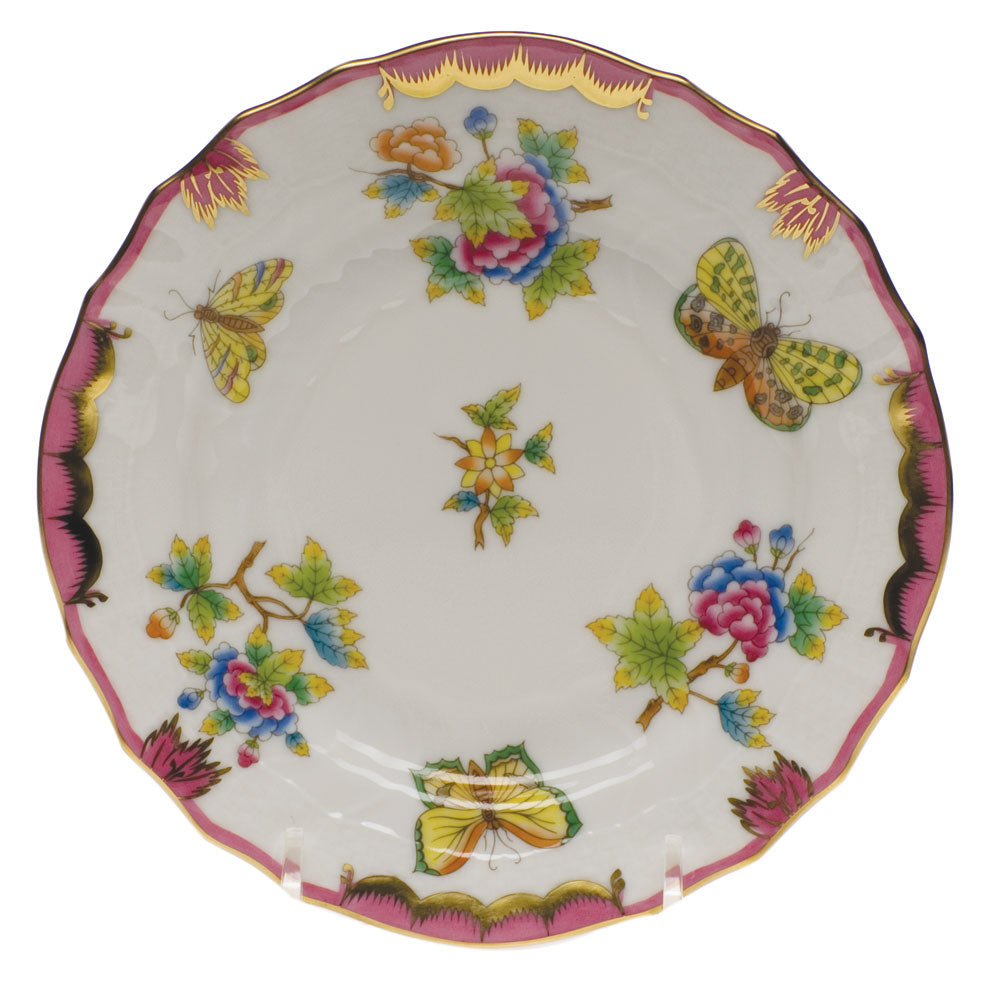 BREAD AND BUTTER PLATE QUEEN VICTORIA PINK