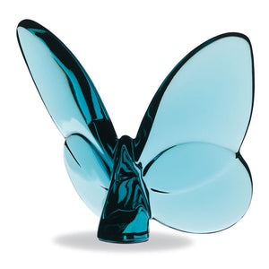 Baccarat Papillon Lucky Butterfly Turquoise Blue