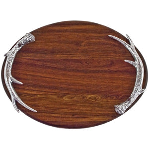 Beatriz Ball Western Antler Large Oval Cutting Board