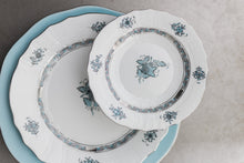 Load image into Gallery viewer, Herend Chinese Bouquet Charger - Turquoise & Platinum