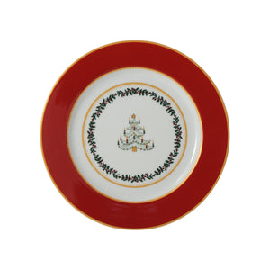 Bernardaud Grenadiers Red Tree Salad Plate