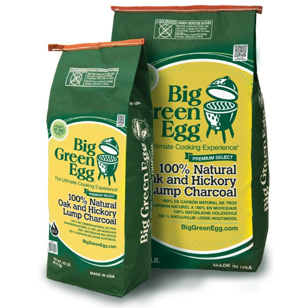 Big Green Egg 100% Natural Lump Charcoal - 20lbs