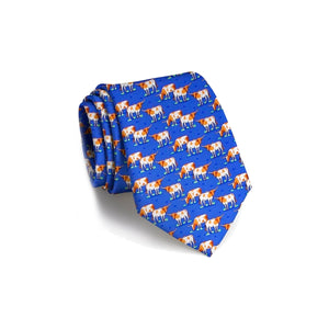 Bird Dog Bay Longhorn Country Tie - Blue