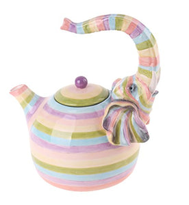 Ceramic Colored Elephant Teapot