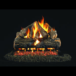 Peterson Gas Log Set - Charred Oak 24""