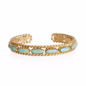Cable Bangle - Turquoise by Christina Greene