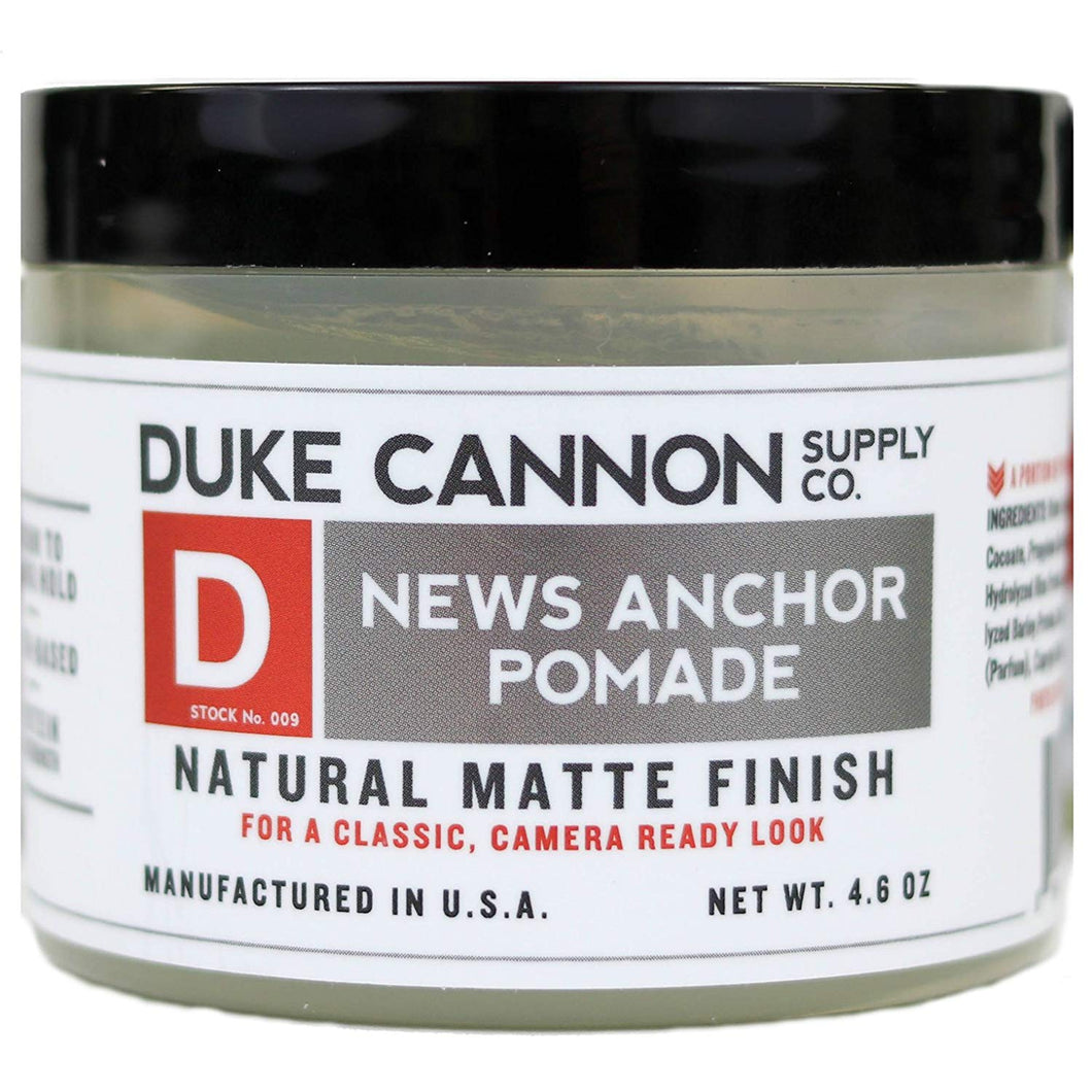 Duke Cannon News Anchor Pomade for Natural Matte Finish, 4.6 ounce