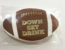Deck the Halls, Yall - Football Drink Napkins -20 ct.