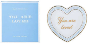 Draper James You Are Loved Heart Shaped Trinket Tray