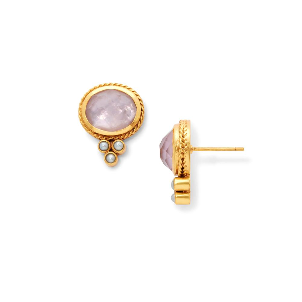 Julie Voss Mirren Stud Earrings - Iridescent Rose