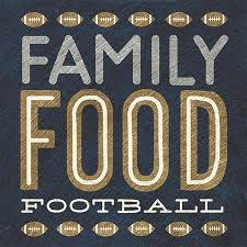 "Design Design - ""Family Food Football"" Lunch Napkins"