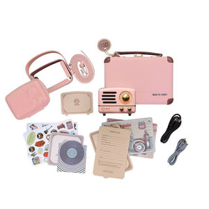 Flamingo Pink Metal Radio & Bluetooth Speaker