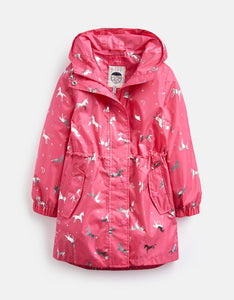 Joules Golightly Waterproof Packaway Coat Unicorn