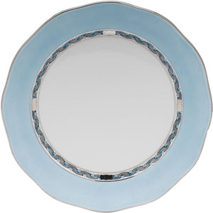 Herend Chinese Bouquet Charger - Turquoise & Platinum