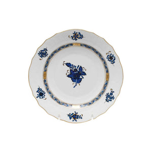 Herend Chinese Bouquet Black Sapphire Salad Plate