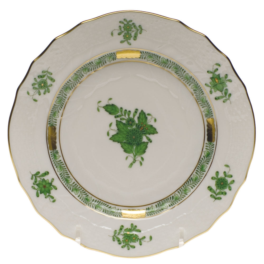 Herend Chinese Bouquet Green Bread & Butter Plate