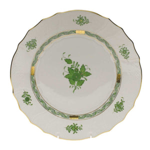 Herend Chinese Bouquet Green Dinner Plate