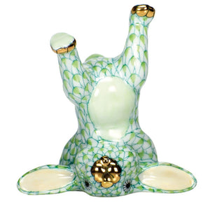 Herend Figurine Handstand Bunny Rabbit - Key Lime
