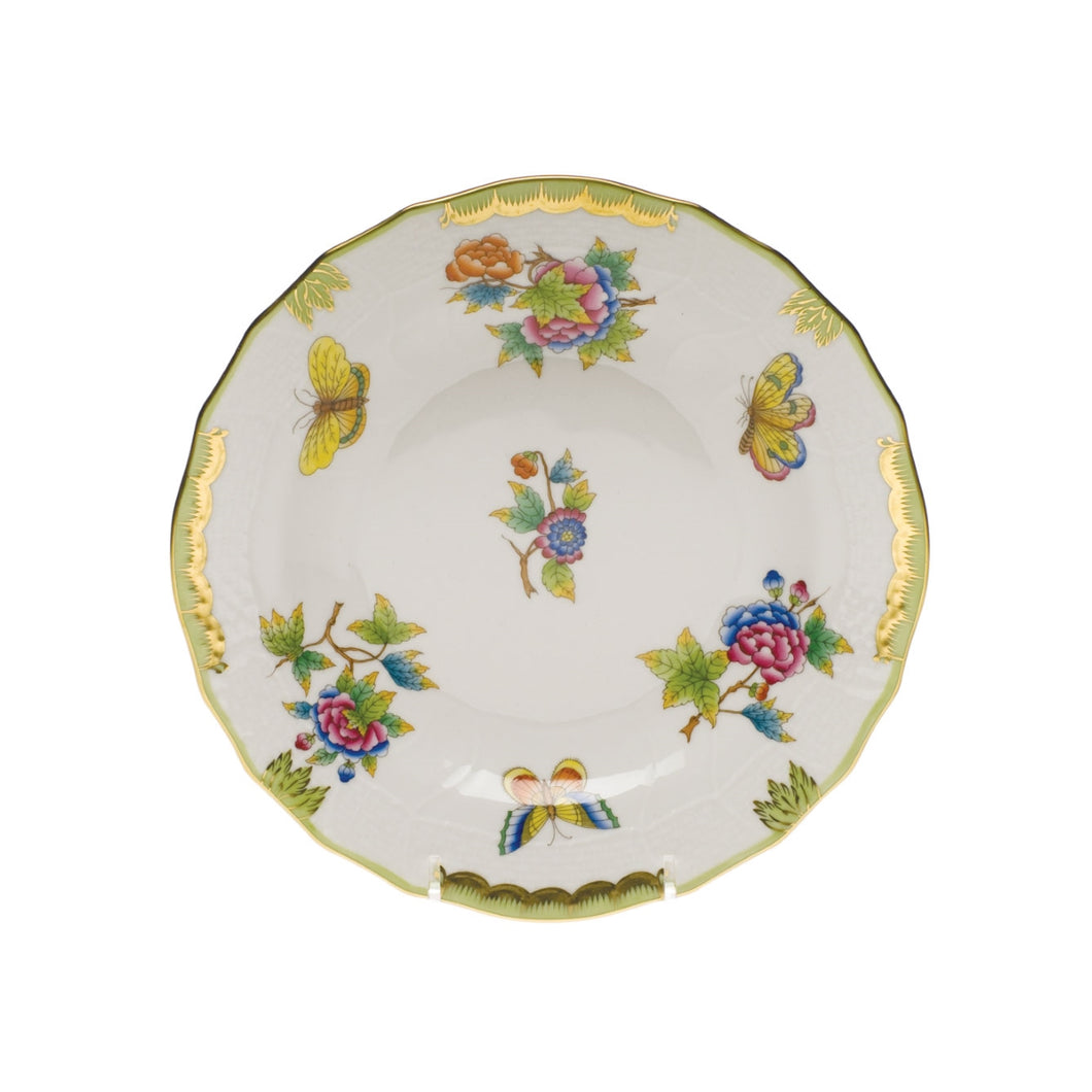 Herend Queen Victoria Green Border Dessert Plate