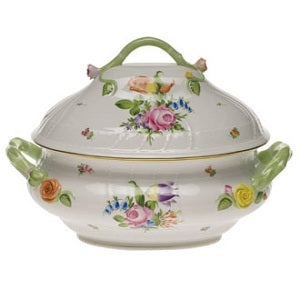 Herend Rothschild Bird Tureen with Branch Handles