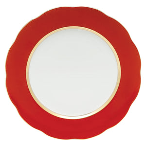 Herend Silk Ribbon Service Plate - Red