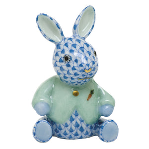 Herend Sweater Bunny Rabbit Figurine - Blue