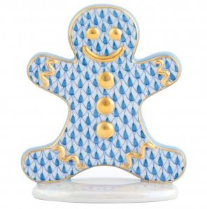 Herend Gingerbread Man - Blue