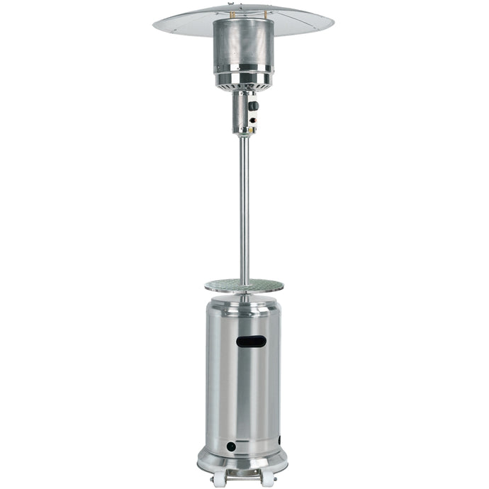 Hiland Tall Stainless Steel Patio Heater with Table