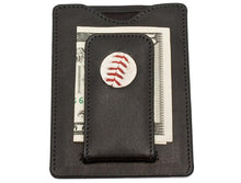 Load image into Gallery viewer, Houston Astros Game Used Baseball Money Clip Wallet