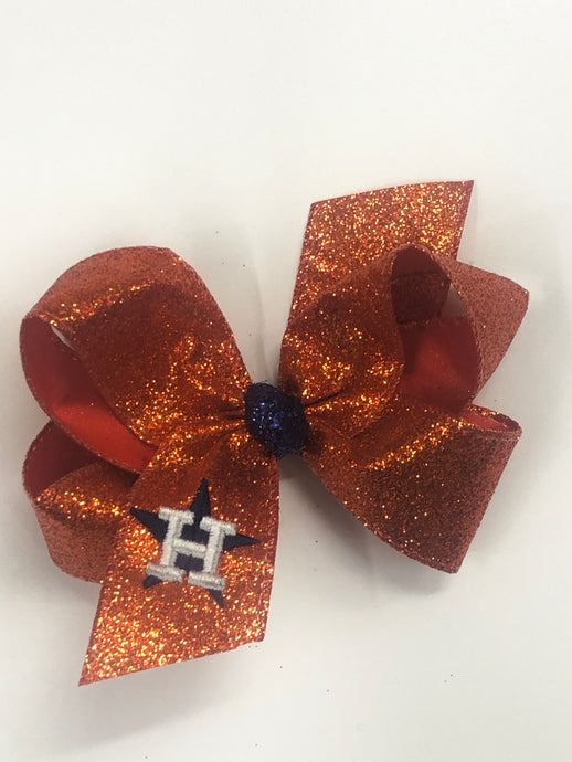 Specialties Astros' Hair bow - Orange Sparkle